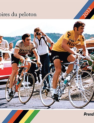 Bernard Thevenet, Eddy Merckx and Joop Zoetemelk make the calendar's front cover