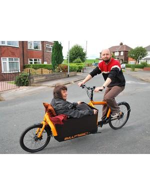 The sperm bike is a modified Harry vs Larry BULLITT cargo bike