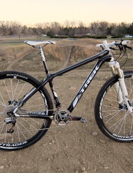 Trek have added a more upscale Pro model to their range of Superfly carbon hardtails for 2012