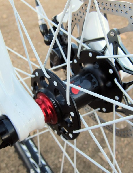 Trek have heeded one of our gripes from last year, replacing the quick-release dropouts with a 15mm through-axle setup for 2012