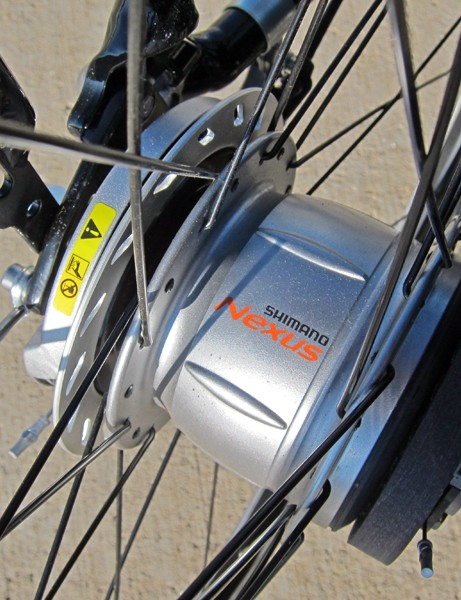 The Shimano Nexus 8's internal gears are well protected from the elements