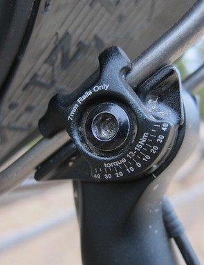 Like Giant's other Contact posts, the Contact Switch provides an angle guide to help with saddle setup
