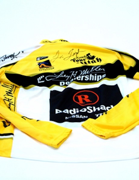 Charitybuzz will auction an autographed RadioShack branded race leader's podium jersey from the 2011 Tour of Utah