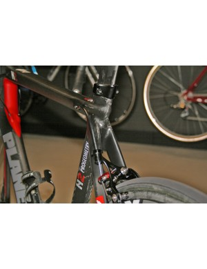 Flat seatstays help smooth the airflow, while the Planet X N2A's high-modulus carbon and high-spec layup should help smooth the ride