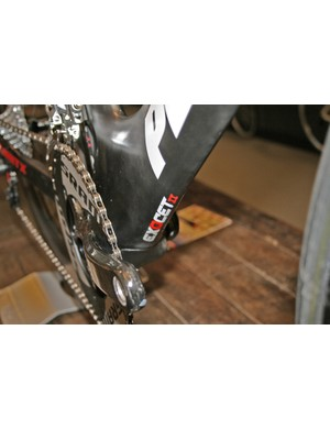 The Exocet 2's down tube forms a sharp leading edge to part the air