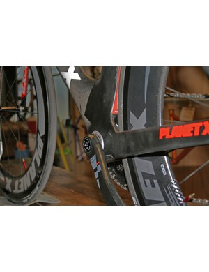 With a press-fit BB30 there's no overhanging bottom bracket to grab the air on the Planet X Exocet 2