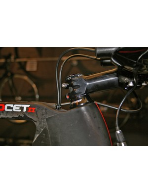 Cables enter the Exocet 2 frame behind the stem to help lower drag