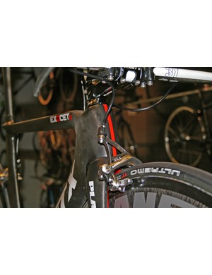 From the front you can see just how slim the Exocet 2's top tube is