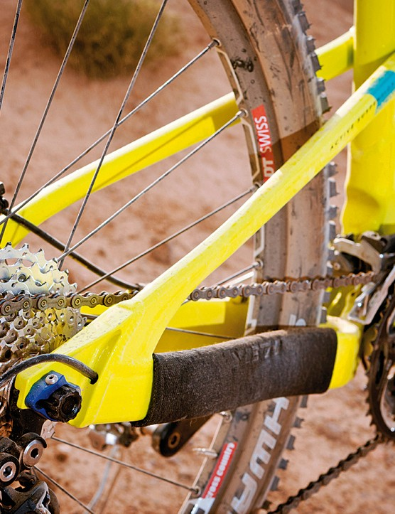 Large chainstays means pedal power isn't lost from your legs to the trail
