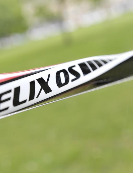 Distinctive helix shaped tubing gives the bike its name