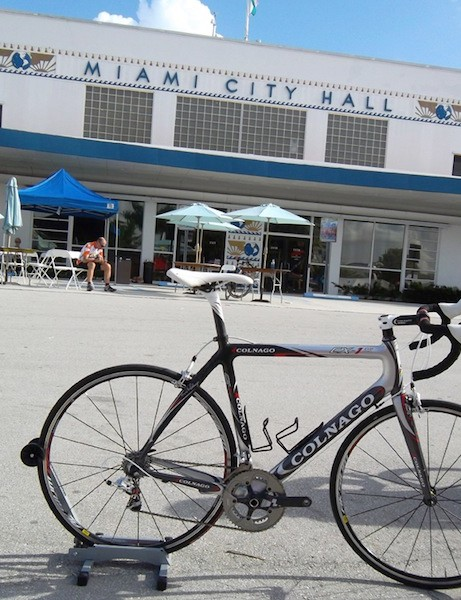 Colonago's CX-1 with the historic Miami City Hall in the background