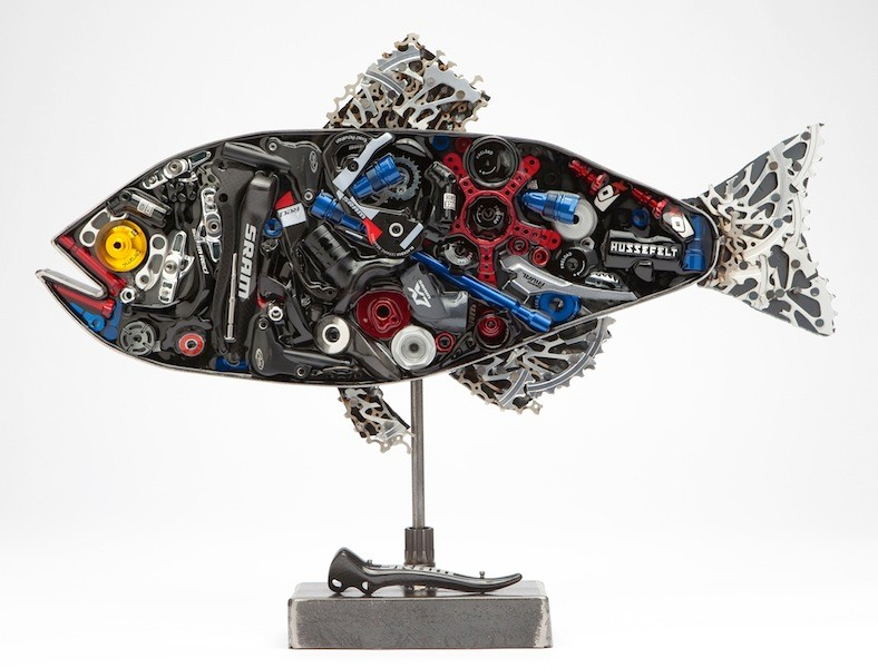 Artist Kendal Polster's SRAM Not SWAM work, was the first to sell, and has already closed, at a final bid $25,000