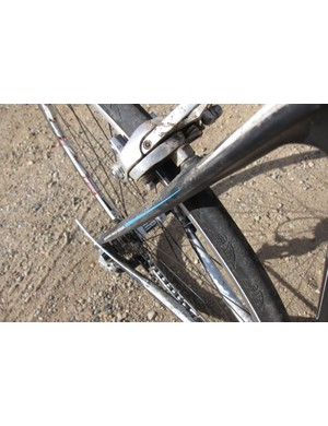 The seatstays are flattened for compliance and made to work in concert with the trapezoidal dropouts