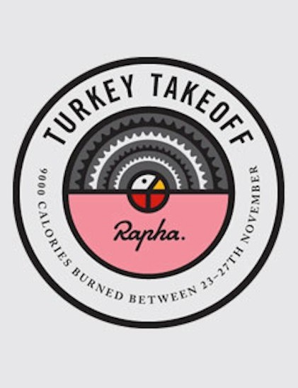 Rapha's Turkey Takeoff badge
