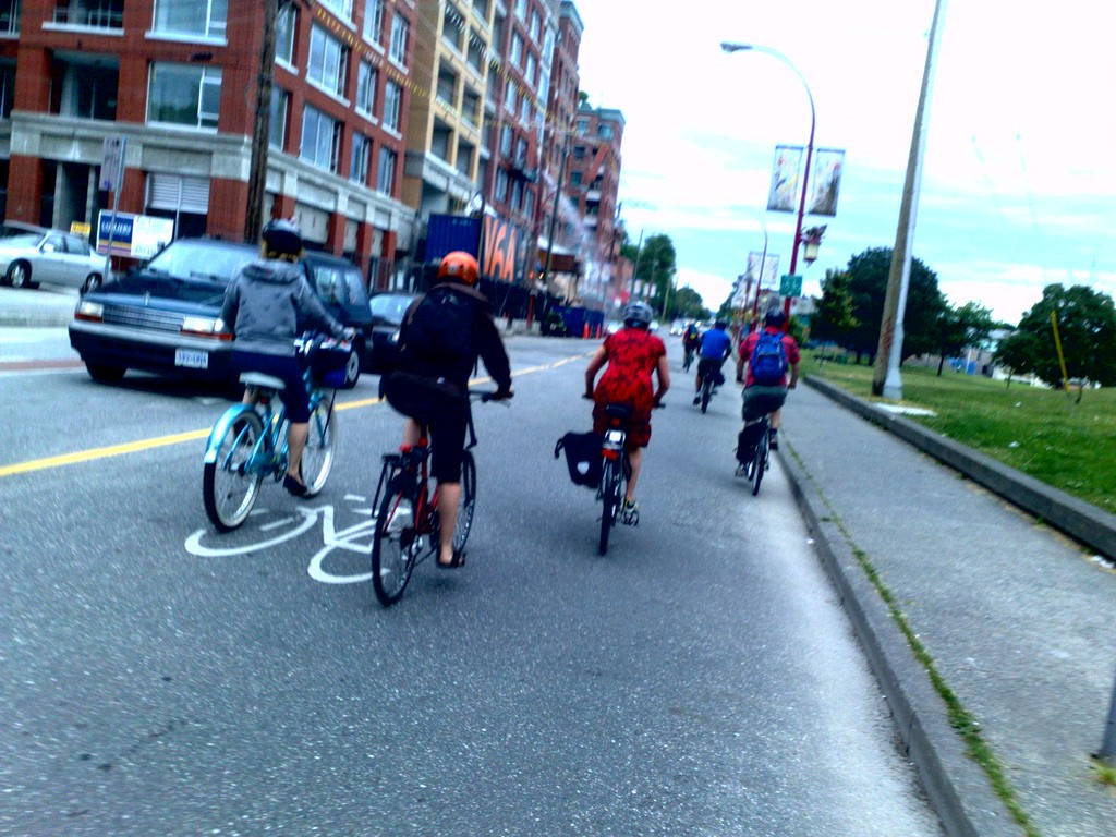 Bike usage is generally good if the proper, safe, infrastructure is offered