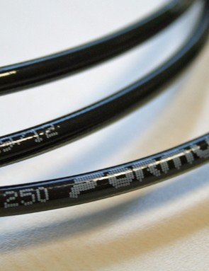 Plastic hoses save weight over braided ones
