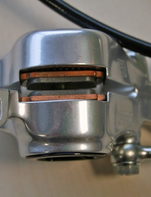 A look at the underside of Formula's RO disc calliper