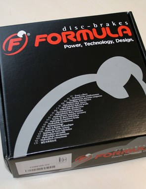 Formula's RO disc brake is supplied without a rotor