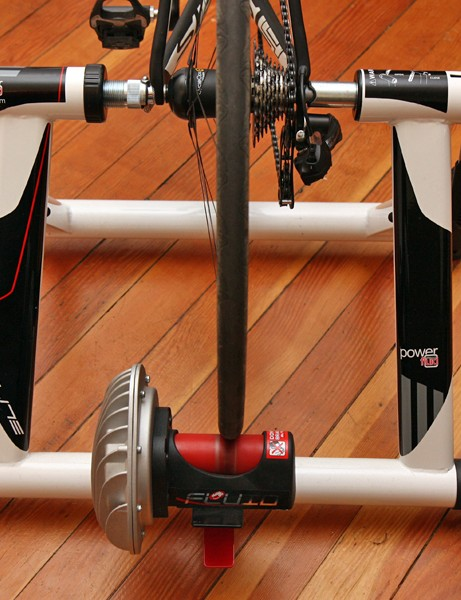 Stance width is a generous 65cm for a stable foundation during spring workouts