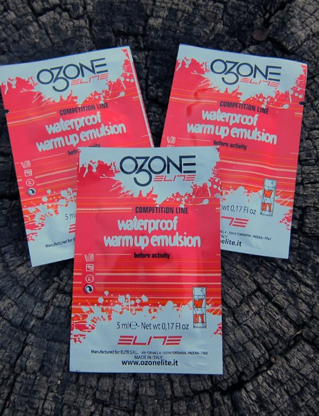 Elite claim the ozonides in their Ozone Waterproof Warm-Up Emulsion will actually improve muscle performance