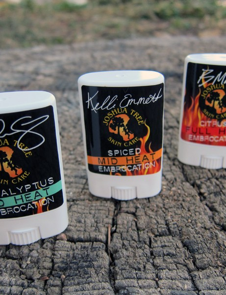 Joshua Tree Products offer three different embrocation formulas depending on the day's conditions and rider preferences