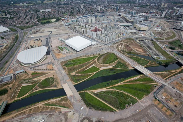 Routes around Olympic Park in London