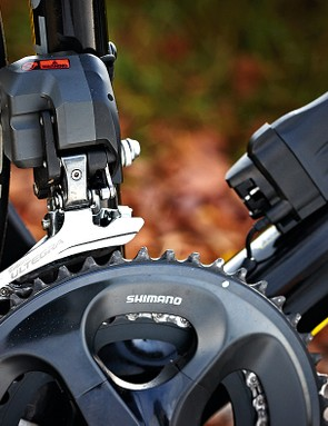 Shimano Ultegra electronic shifting is quick and smooth