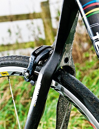 The wishbone seatstays deliver style and comfort