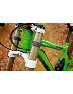 The compact 1.5in head tube allows room for manoeuvre when it comes to set-up