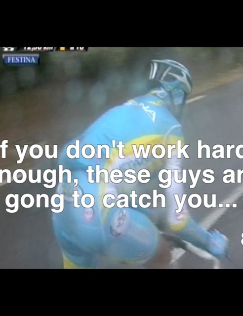 Frequent reminders keep you from letting up on your effort during the intervals - and this was the only typo we noticed on the whole video