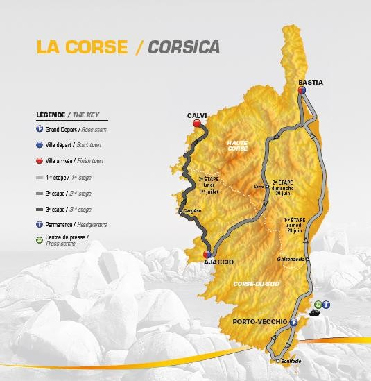 The 2013 route map for stages one, two and three