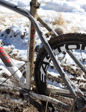 We rode Easton, Notubes.com and Zipp wheels during testing of the bike