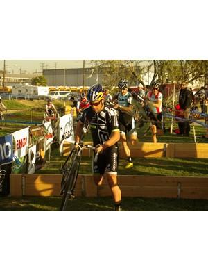 Tim Johnson racing his Super X Disc prototype in LA