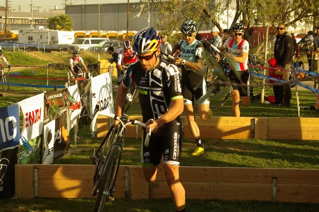 Tim Johnson racing his Super X Disc prototype in LA