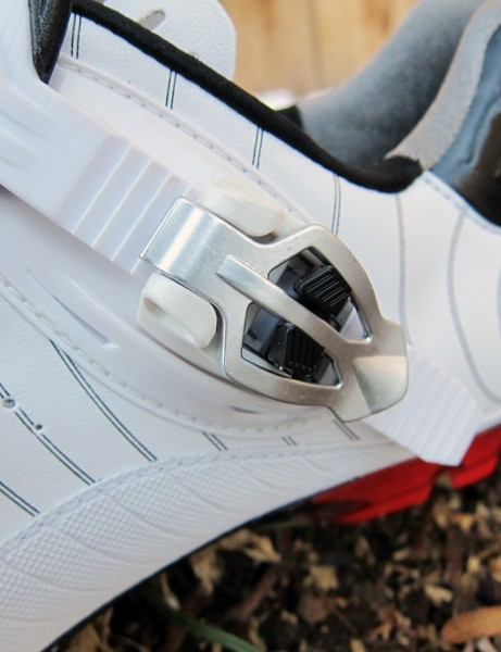 The micro-adjustable buckle on the Bontrager RXL MTB shoe can be tweaked in half-steps for a finely tuned fit