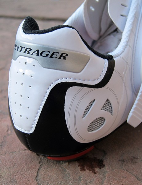 The Bontrager RL Road shoe omits the Heel Trap clip of upper-end models but heel hold doesn't appear to suffer much as a result