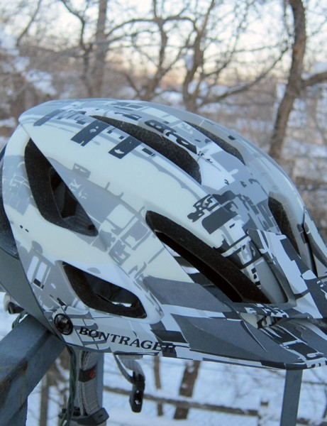 The Lithos is Bontrager's top-end trail helmet with big, gaping vents and generous coverage