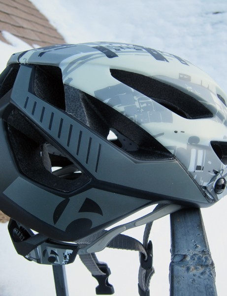Just about every exterior surface on the Bontrager Lithos trail helmet is protected by the microshell for what we expect to be good day-to-day durability