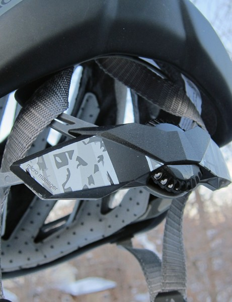 The Bontrager Lithos's Micro Manager retention system is easy to operate with one hand
