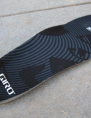 Giro rely on their EVA insole to provide arch support but it's minimal at best. Buyers seeking a more solid foundation will need to switch to a different insert