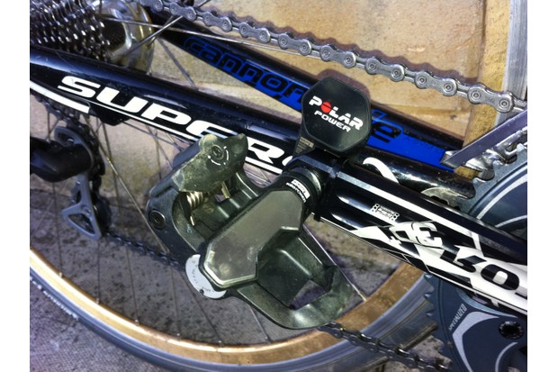 Look KeO Power pedals with sensor mounted