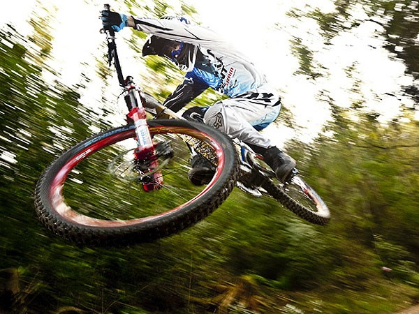 Danny Hart gets airborne on his home turf in Hamsterley