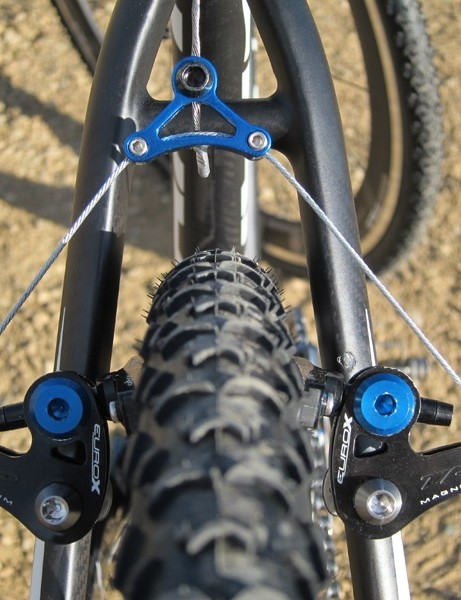 TRP's wide-profile EuroX Mag brakes come in custom colors for Giant's halo 'crosser