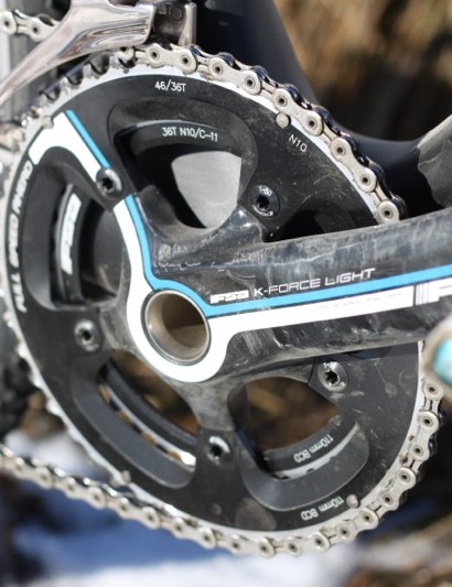 Mechanically, the FSA crank held up fine to our beating. However, the finish is worse for the wear after just three muddy races and subsequent clean-ups