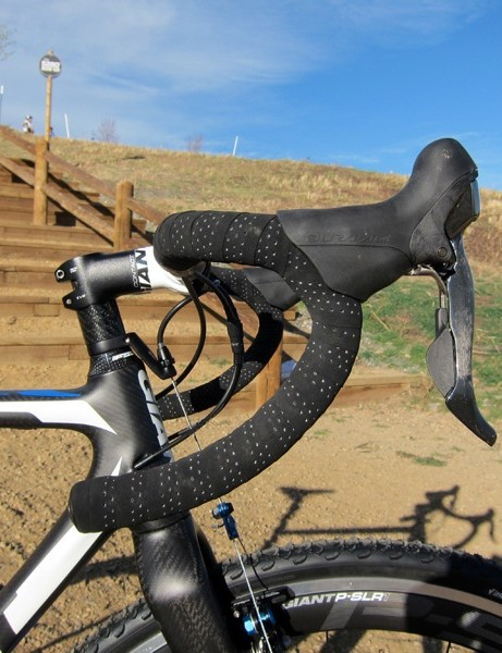 We were content with the shallow bend of the Contact alloy handlebar