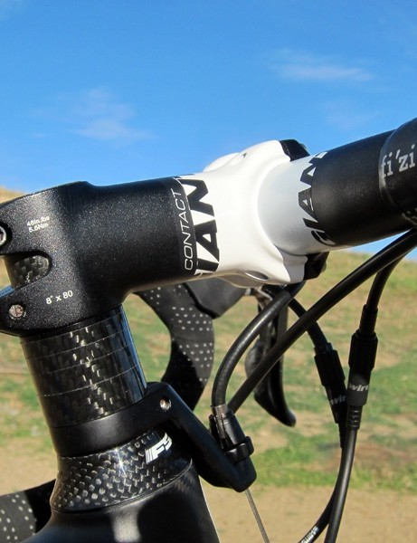 Giant offer an impressively short 80mm stem on our medium test bike, which goes against the rest of the European style of the bike; this is a 'cross bike, not a trail bike, you guys