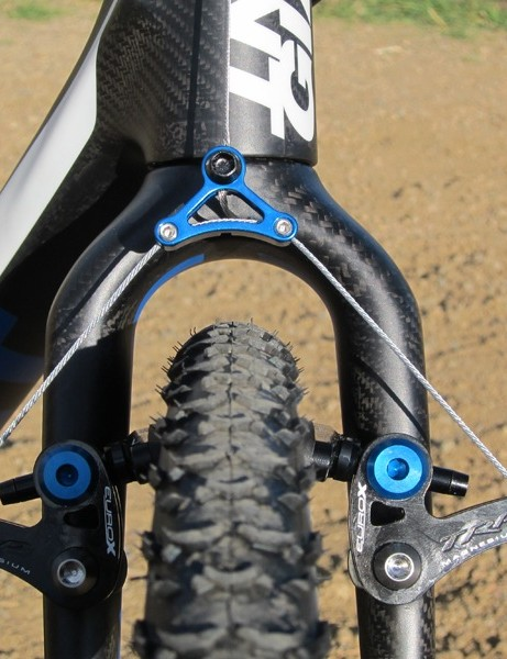 Giant have built massive mud clearance into the frame and fork of the TCX Advanced SL