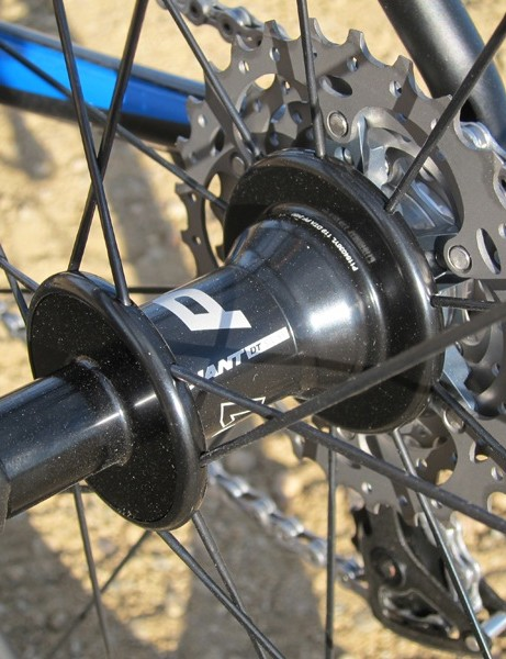 The front and rear hubs of Giant's P-SLR1 Aero wheelset are made by DT Swiss, which immediately gives the set some credibility