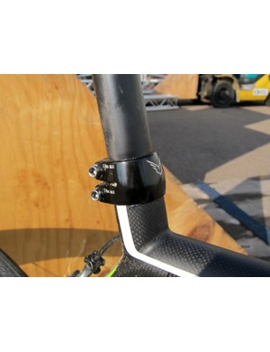 Felt provides these dual-bolt seatpost clamps for riders that have issues with seatpost slippage.