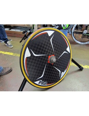 Not surprisingly given its Skil-Shimano roots, 1t4i will use a full complement of Shimano and PRO gear for 2012, including this carbon rear disc wheel.